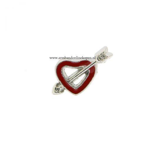 geraakt door de liefde bedel voor armband of hanger