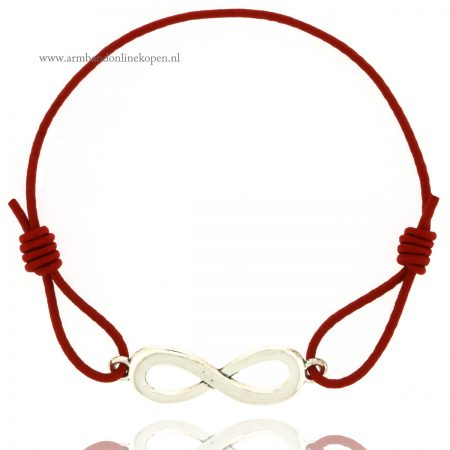 infinity armband zilver donker rood goedkoop kopen