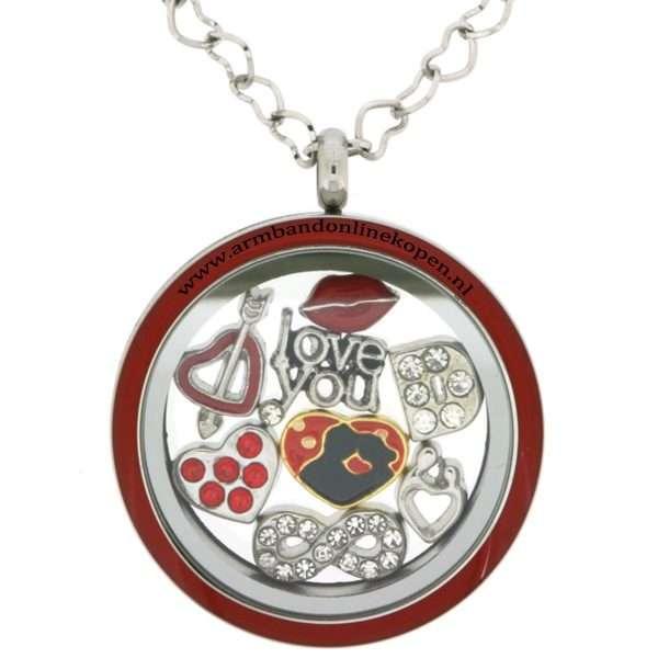 munt ketting met bedels Valentijn cadeau