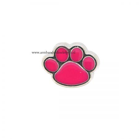 pootafdruk kat bedel voor armband of hanger