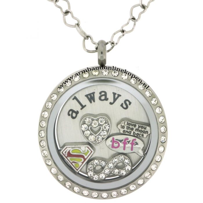 super friends bff ketting met hanger of munt armband