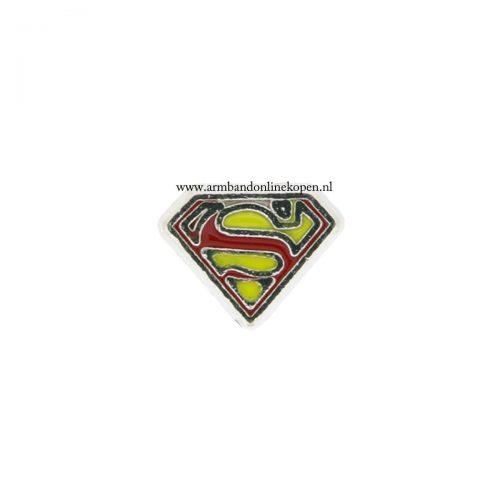 super man bedel voor munt armband of munt ketting