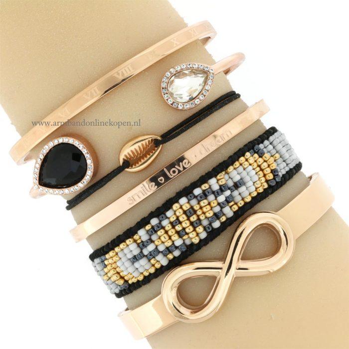 armband met roze goud schelpje goedkoop kopen