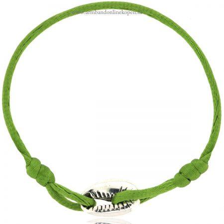 armband met schelp zilver olive green