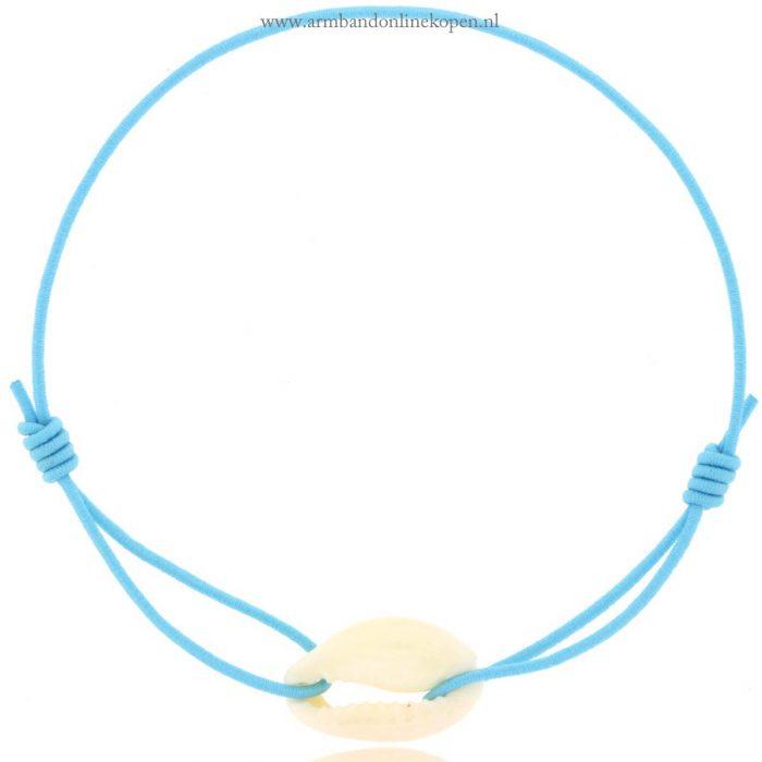 armband schelp wit baby blue