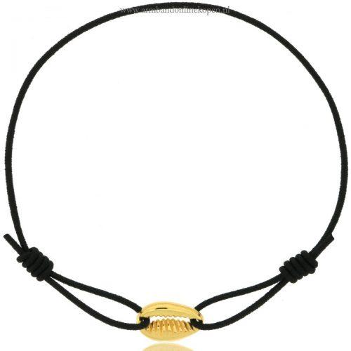 schelpje armbandje goud zwart