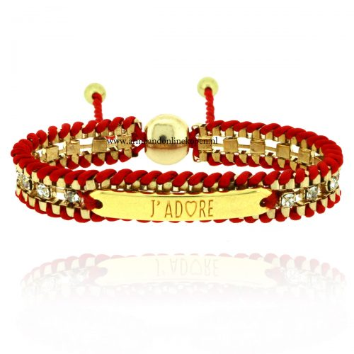 armband-quote-j-adore-goud-rood