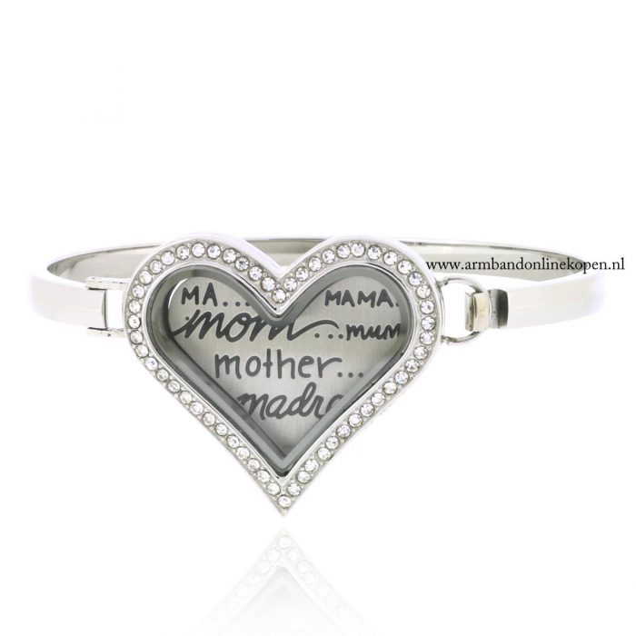 munt armband hart vorm love my mother