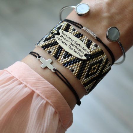 quote armband geloof altijd in jezelf miyuki kraaltjes