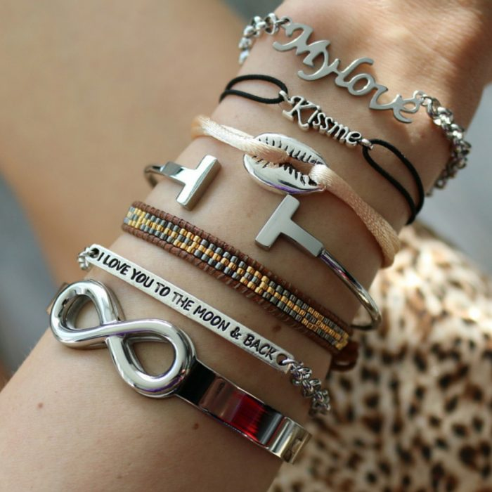 My Love Stainless Steel Chain Armband