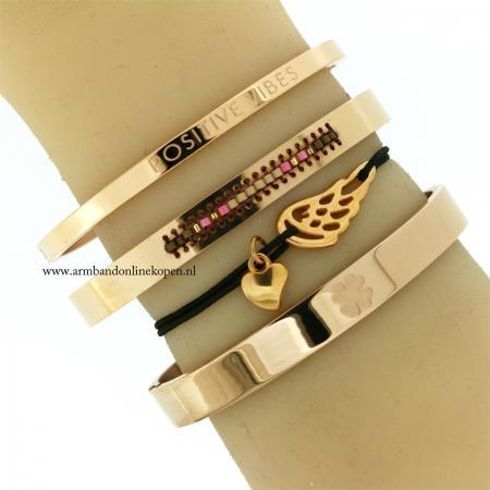 beschermengel liefdes armbandje rose goud