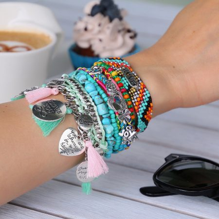 ibiza armband love tekstplaatje good vibes only