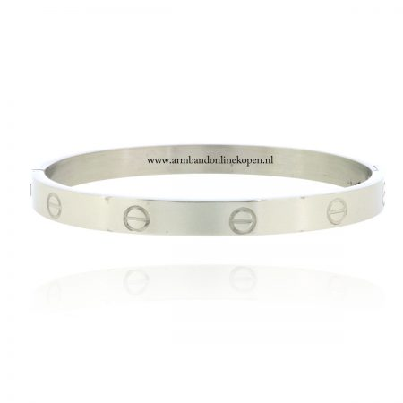 armband love roestvrij staal zilver