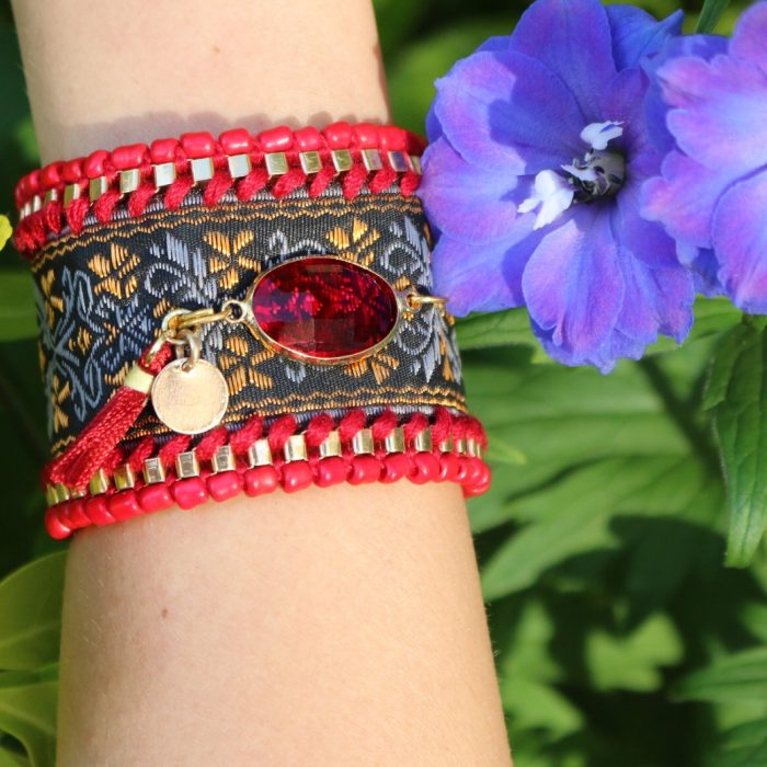hippe ibiza armbanden met steen gypsy boho style