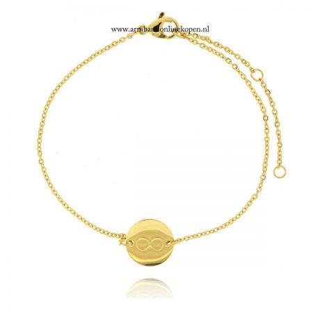 roestvrij staal armbandje infinity goud