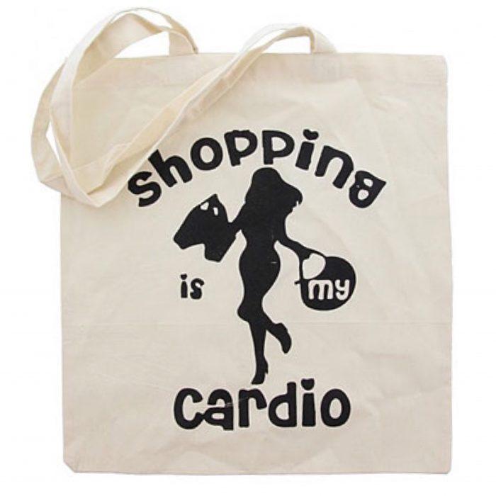 shopper tas Tote Bag Shopping is my Cardio