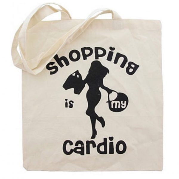 shopper tas Tote Bag Shopping is my Cardio