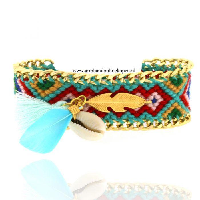 Ibiza armband met schelp Festival Bliss