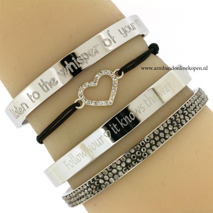 armband hartje Bloeiend Hart Armbandje