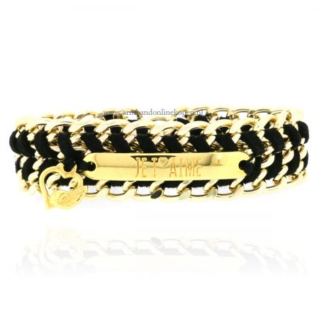 armband quote tekstplaatje je t aime