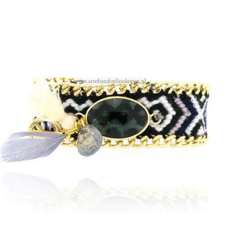 armband-steen-druppelvorm-steentje-veer