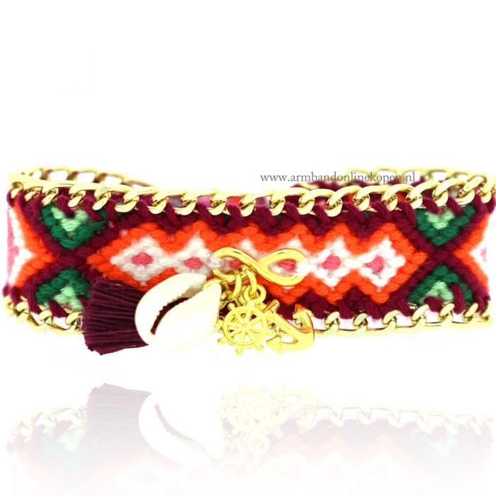 ibiza armband infinity symbool ankertje kwastje