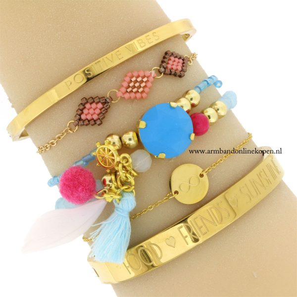 quote bangles goud food friends sunshine