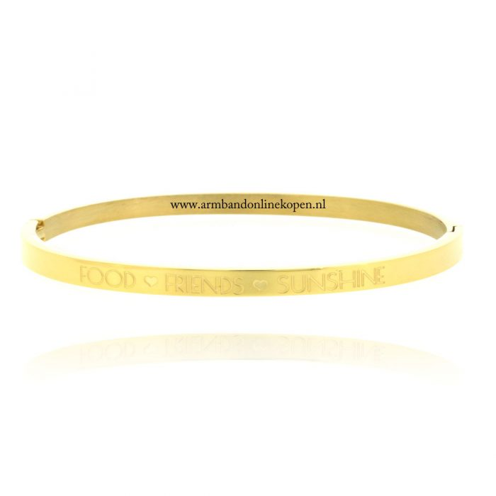 quote rvs armband food friends sunshine goud