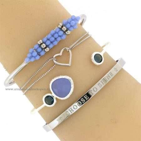 armband hartje zilver minimalistisch