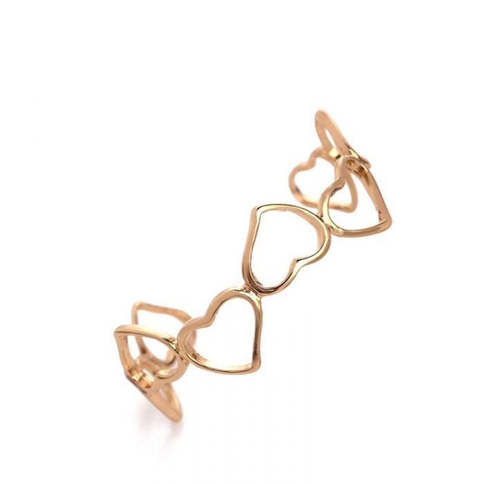 bangle armband hartjes goud