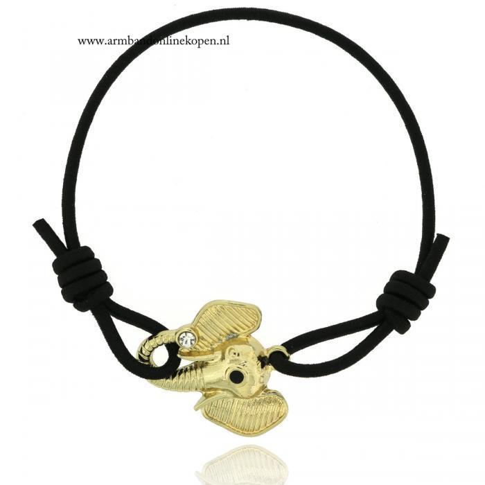 geluks armbandje olifant goud