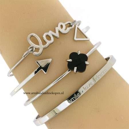 hippe minimalistische armbanden zilver