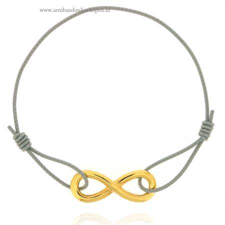 infinity armbandje goud licht grijs