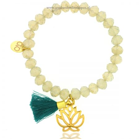 lotus bloem armband good vibes only