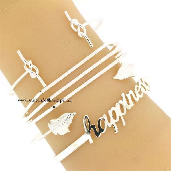 zilver minimalistische armbandjes zilver