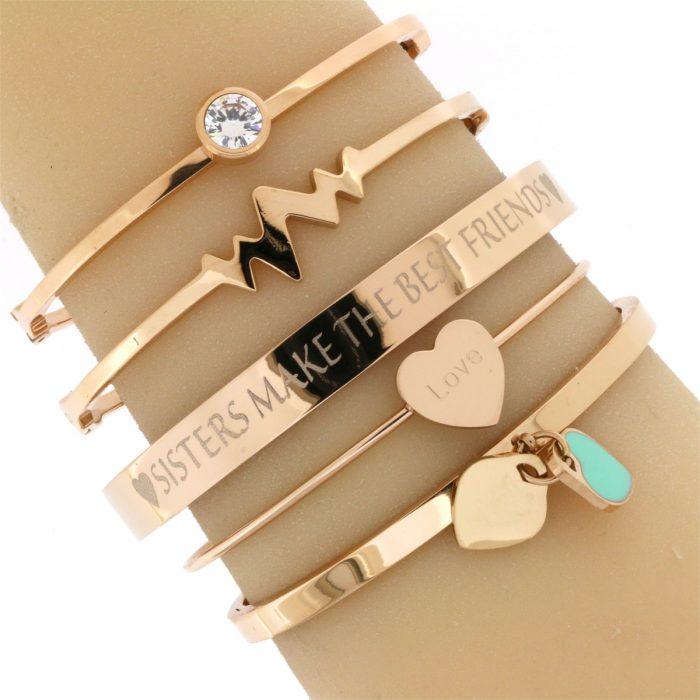 2-hearts-1-soul-zussen-armbanden-quote-rose-goud