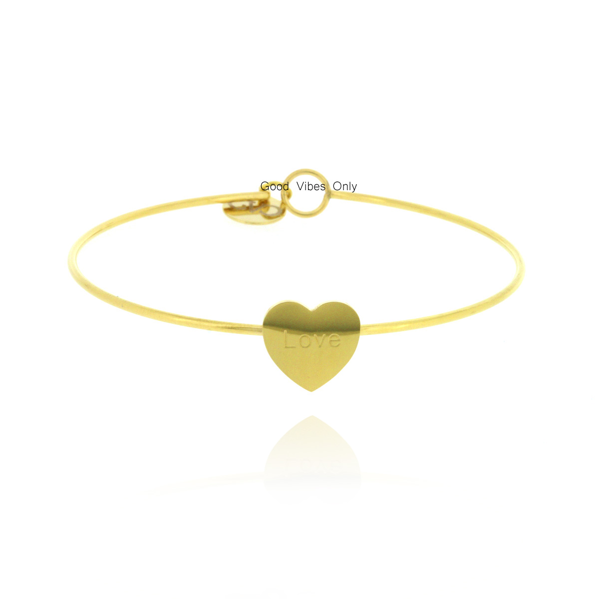 good-vibes-only-armband-staal-hart-goud