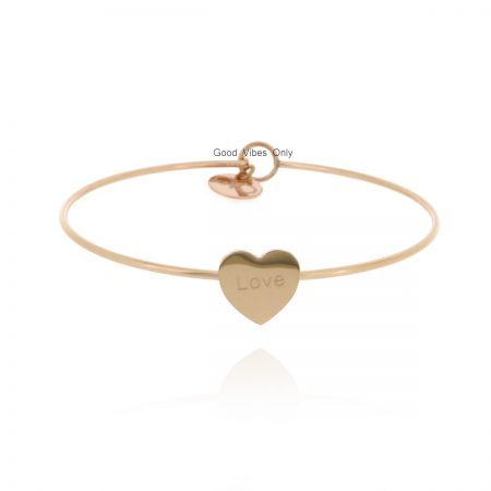 good-vibes-only-armband-staal-hart-roze-goud