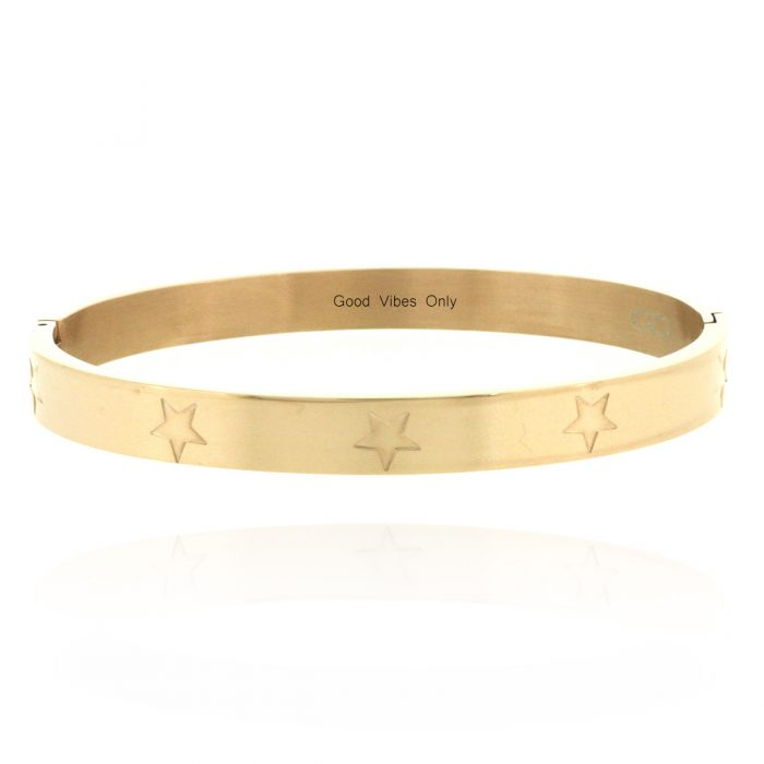 good-vibes-only-armband-staal-roze-goud
