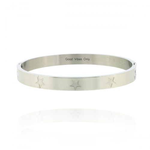 good-vibes-only-armband-staal-zilver