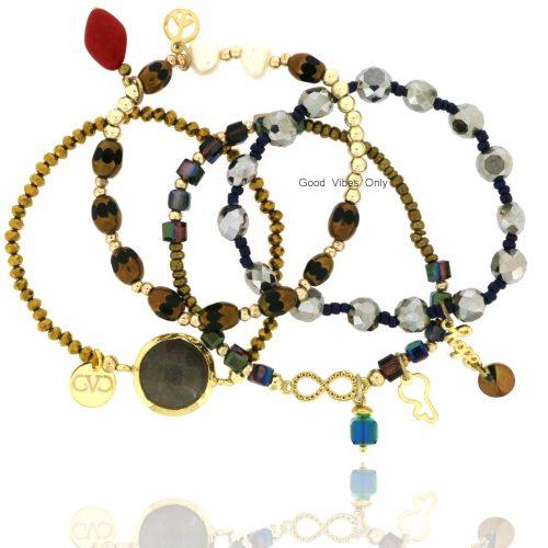 Good Vibes Only Bracelet Set Blessing Key