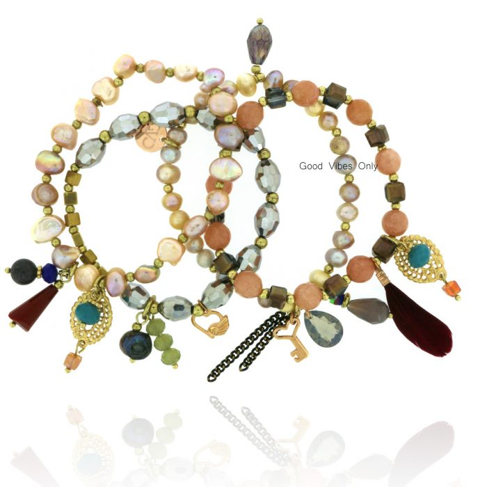 Good Vibes Only Bracelet Set Champagne Delights