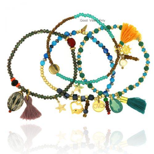 Good Vibes Only Bracelet Set Mystic Star
