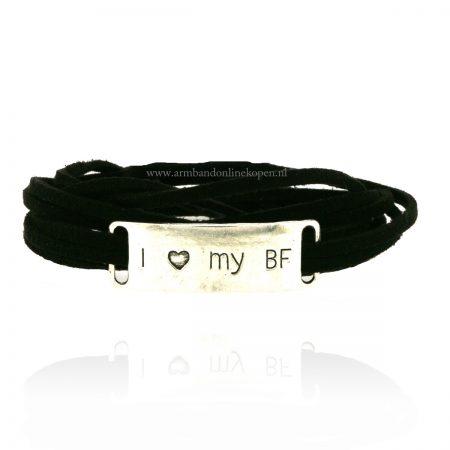 I Love my BF Wikkel Armband BFF armband