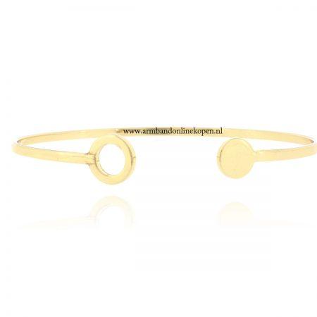 armband circle bangle goud