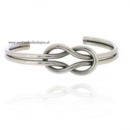 armband-knot-infinity-staal-zilver