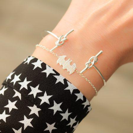 batman armband zilver