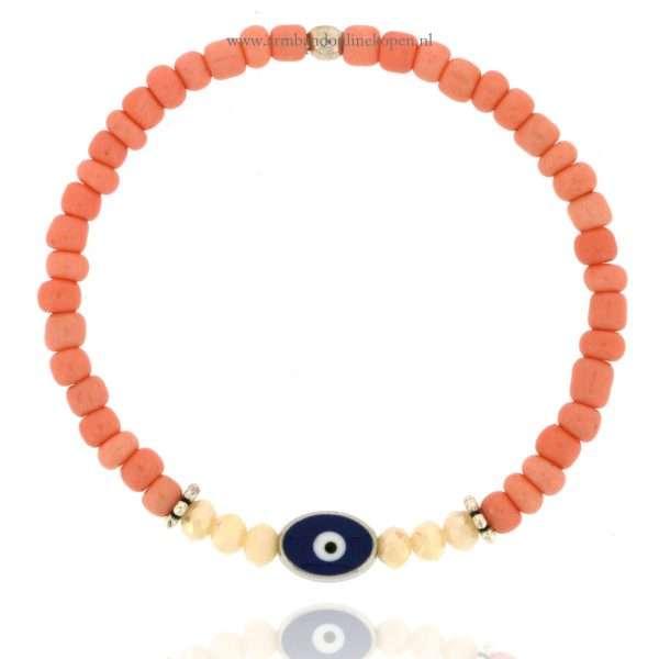 geluks-kralen-armband-boze-oog-zilver-zalm-roze