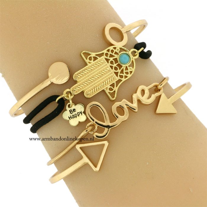 hamsa-hand-armband-zwart-goud-geluks-armband