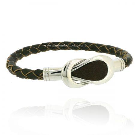 hippe-leren-gevlochten-armbanden-staal-leer